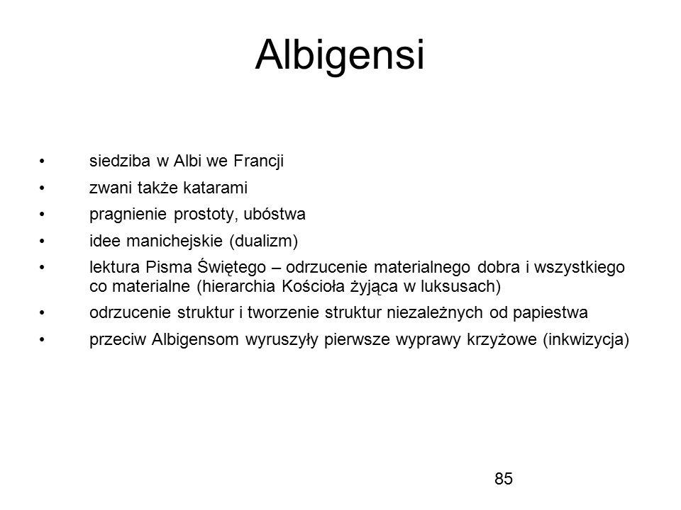 Albigensi siedziba w Albi we Francji zwani także katarami