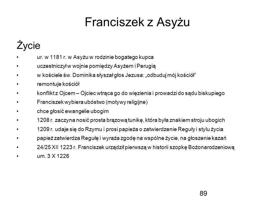 Franciszek z Asyżu Życie