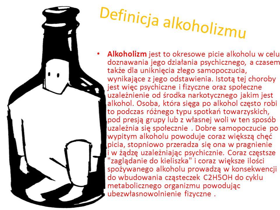 Definicja alkoholizmu