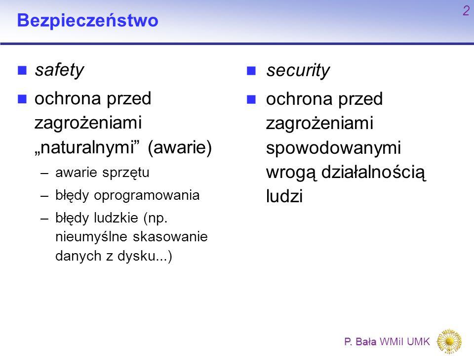 """ochrona przed zagrożeniami """"naturalnymi (awarie) security"""
