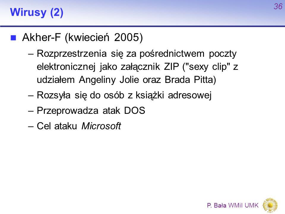 Wirusy (2) Akher-F (kwiecień 2005)