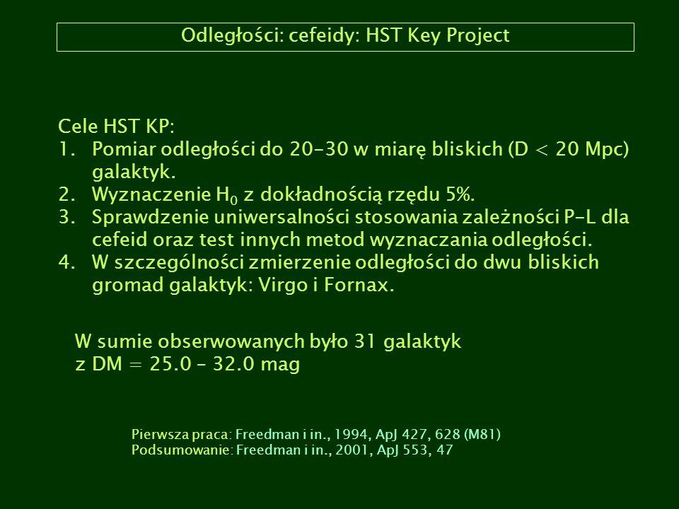 Odległości: cefeidy: HST Key Project