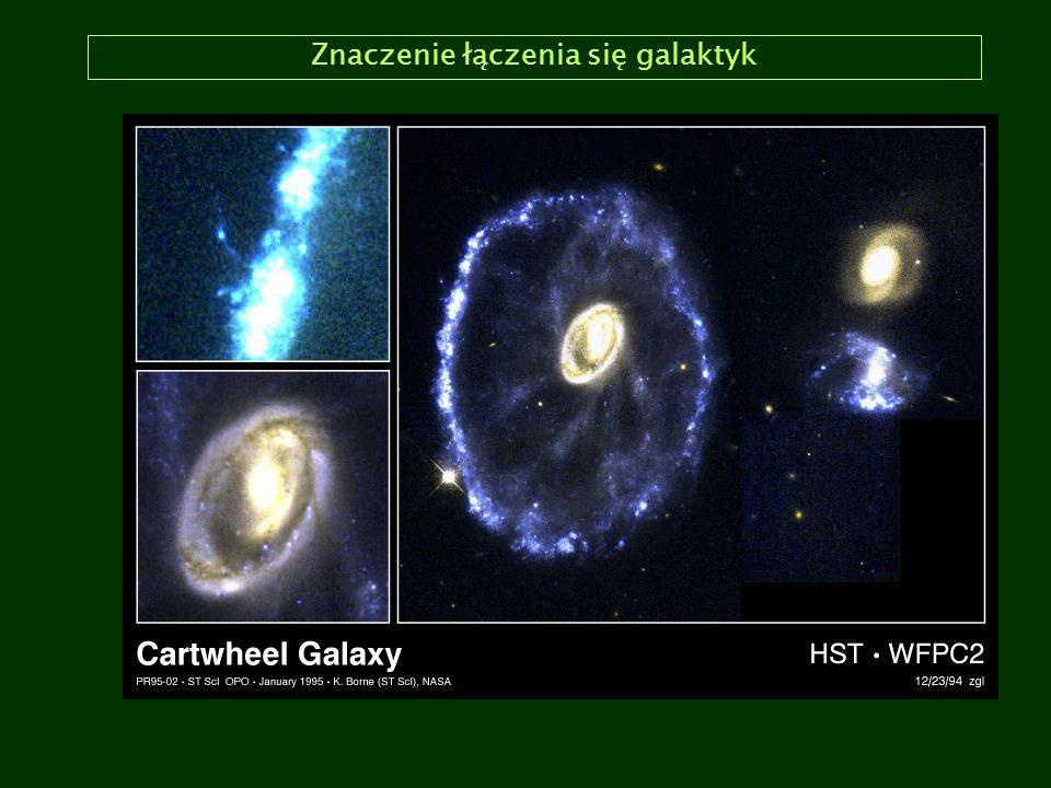 Znaczenie łączenia się galaktyk
