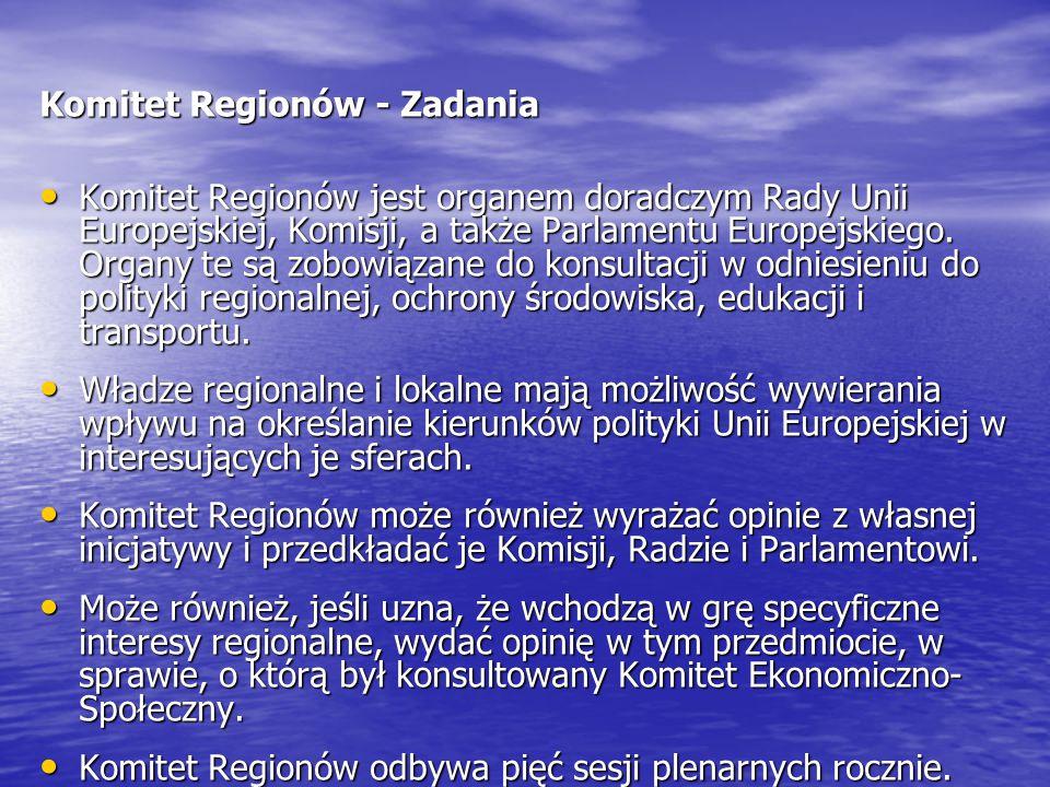 Komitet Regionów - Zadania