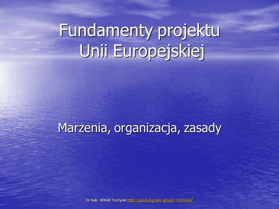 Fundamenty projektu Unii Europejskiej