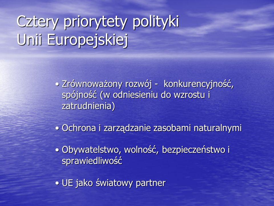 Cztery priorytety polityki Unii Europejskiej