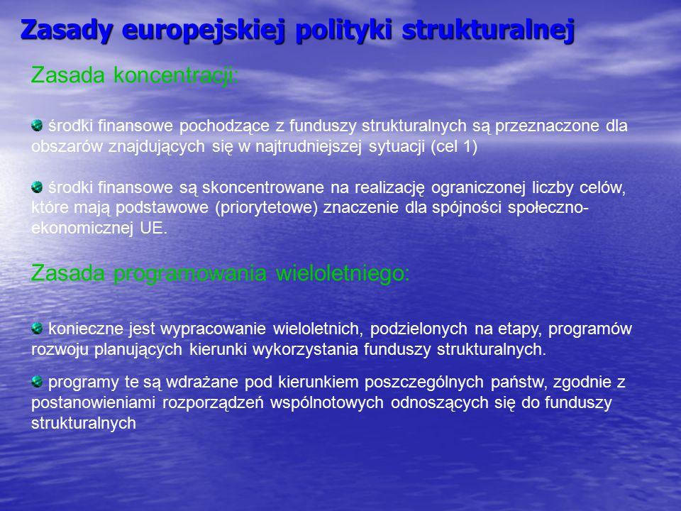 Zasady europejskiej polityki strukturalnej
