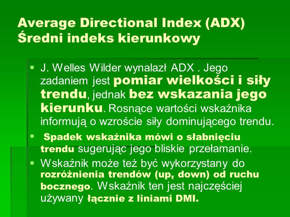 Average Directional Index (ADX) Średni indeks kierunkowy