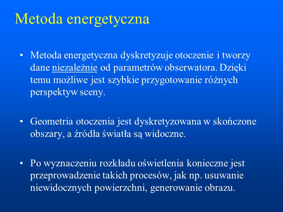 Metoda energetyczna