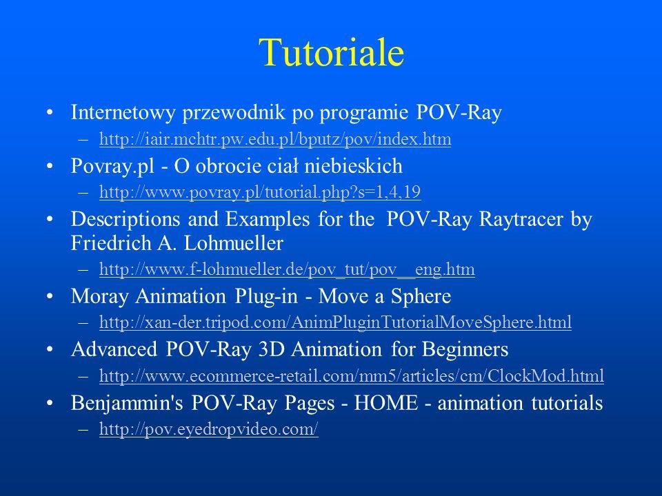 Tutoriale Internetowy przewodnik po programie POV-Ray