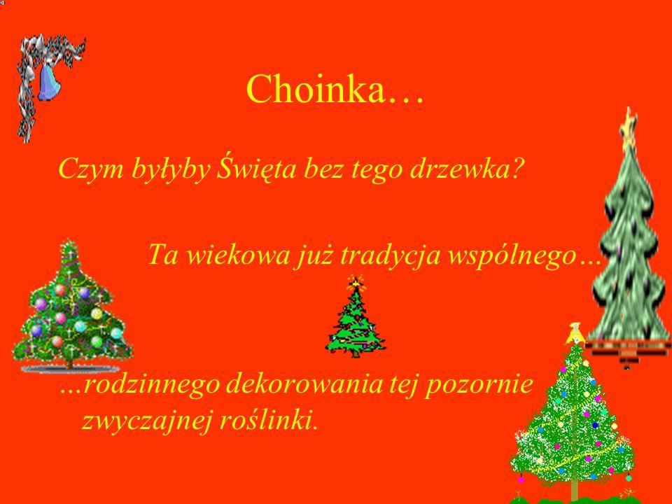 Choinka… Czym byłyby Święta bez tego drzewka
