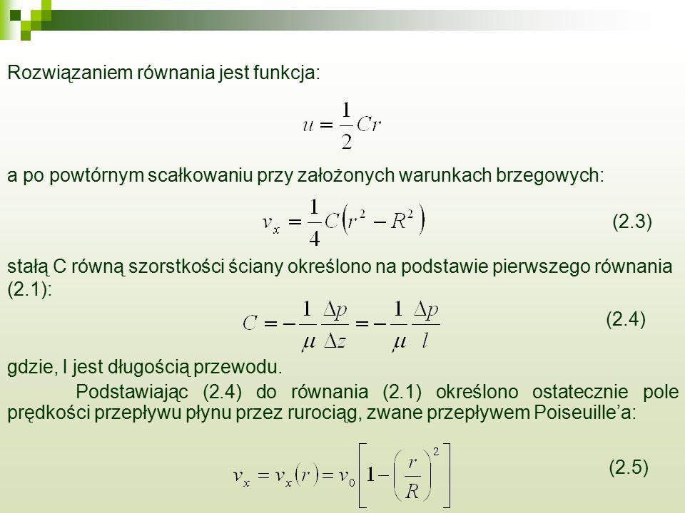 Rozwiązaniem równania jest funkcja: