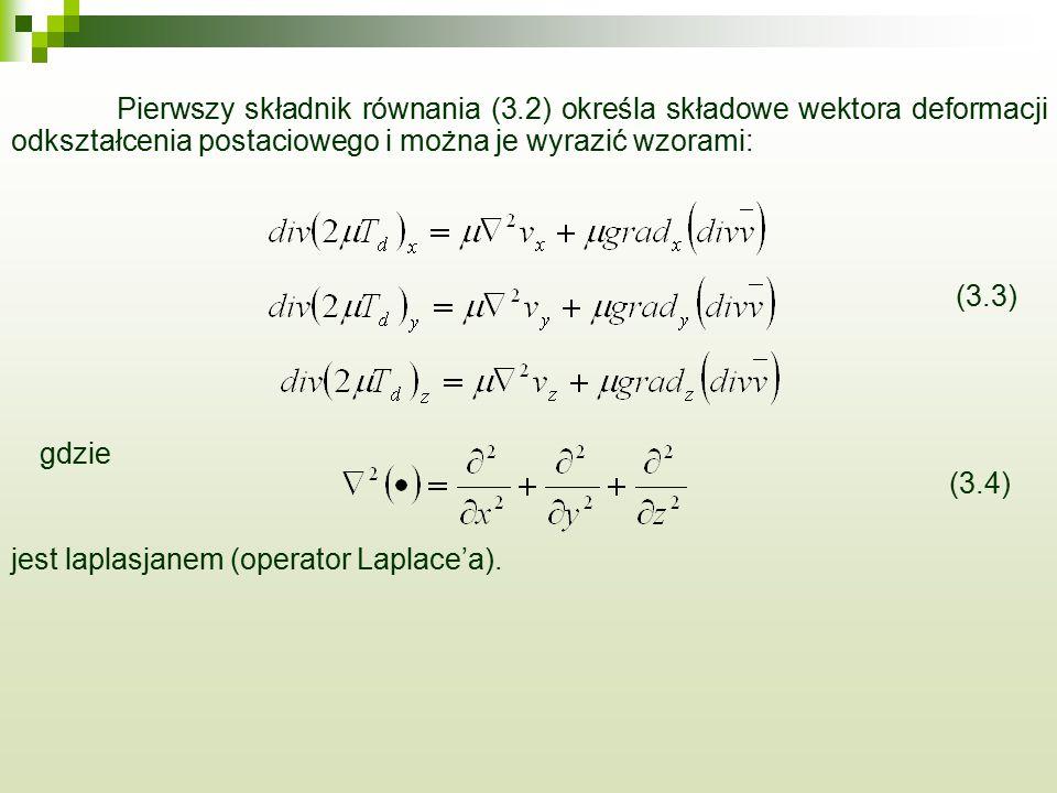 Pierwszy składnik równania (3