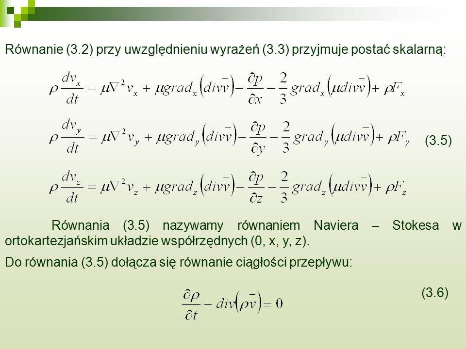 Równanie (3. 2) przy uwzględnieniu wyrażeń (3