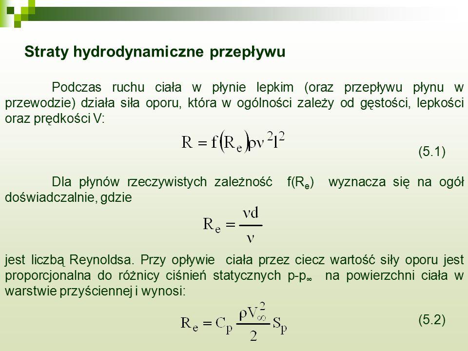 Straty hydrodynamiczne przepływu