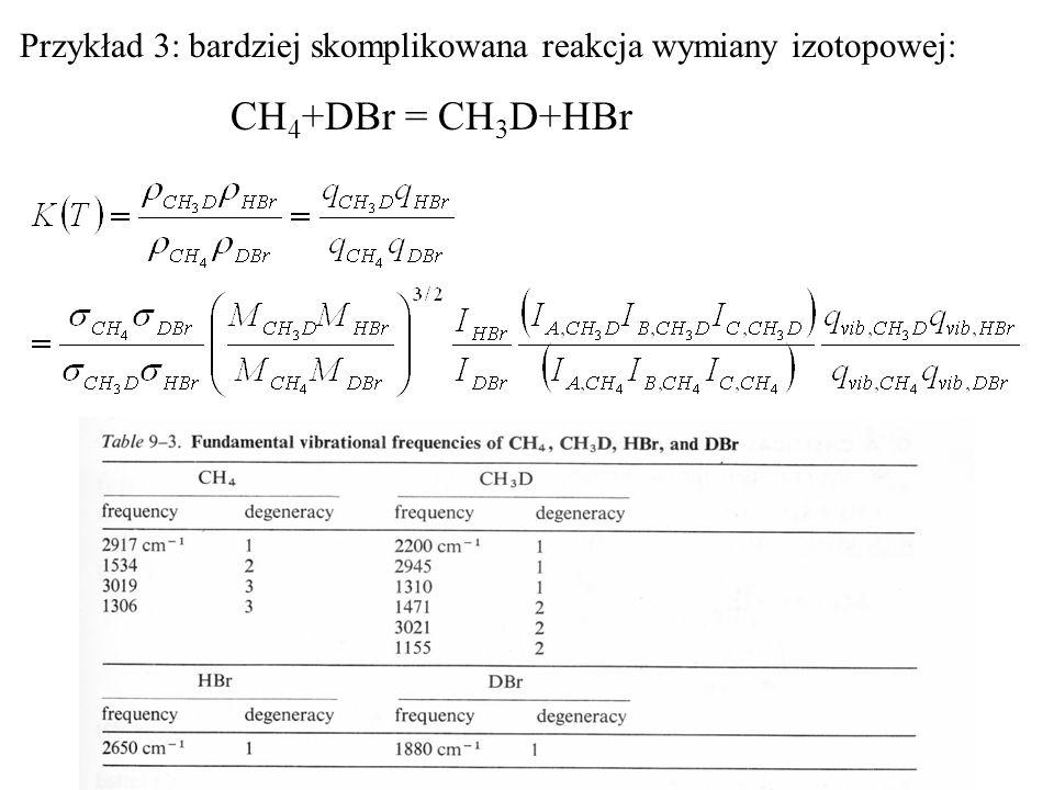 Przykład 3: bardziej skomplikowana reakcja wymiany izotopowej: