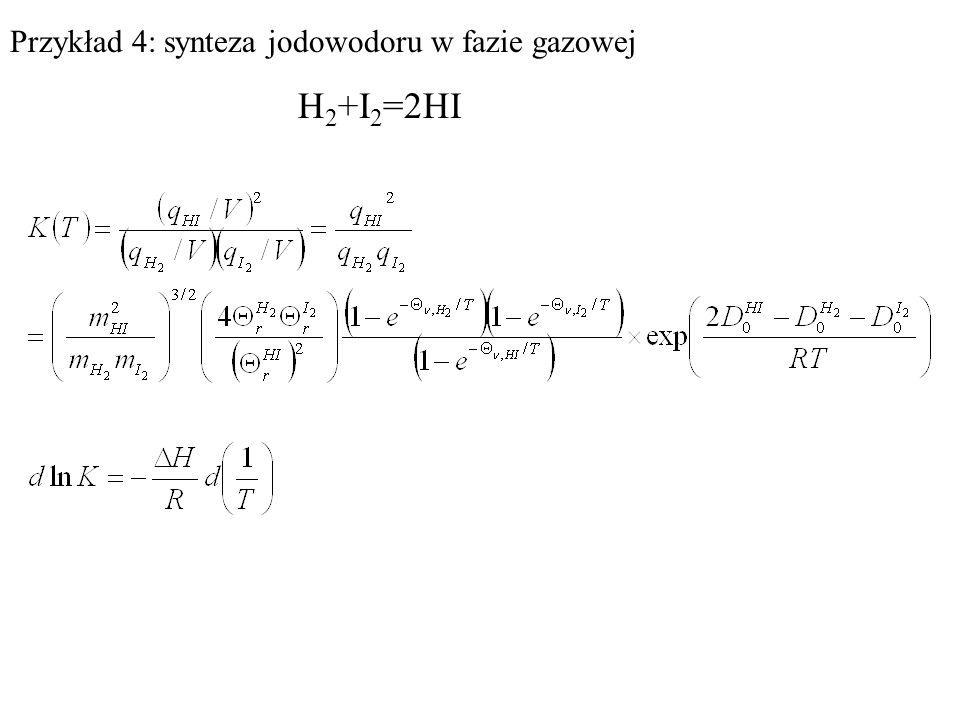 Przykład 4: synteza jodowodoru w fazie gazowej