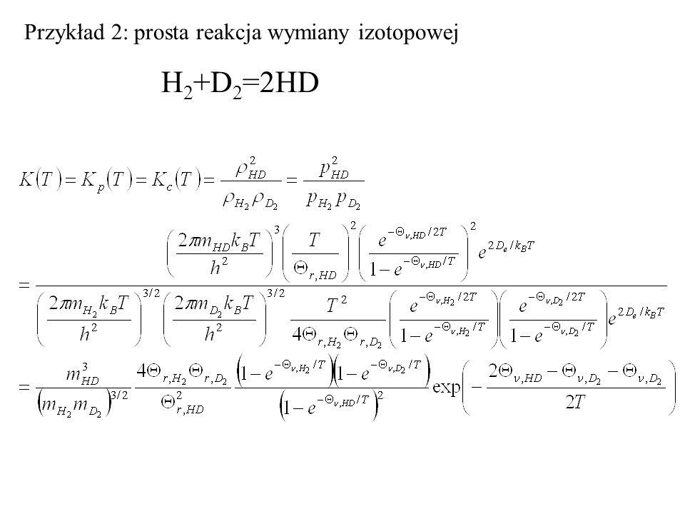 Przykład 2: prosta reakcja wymiany izotopowej