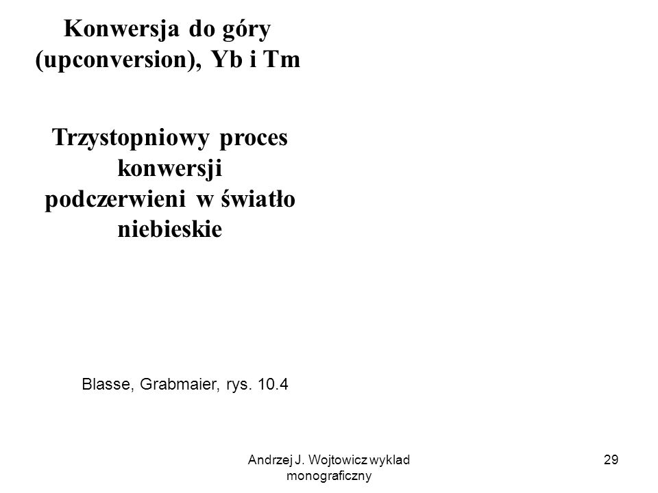 Konwersja do góry (upconversion), Yb i Tm