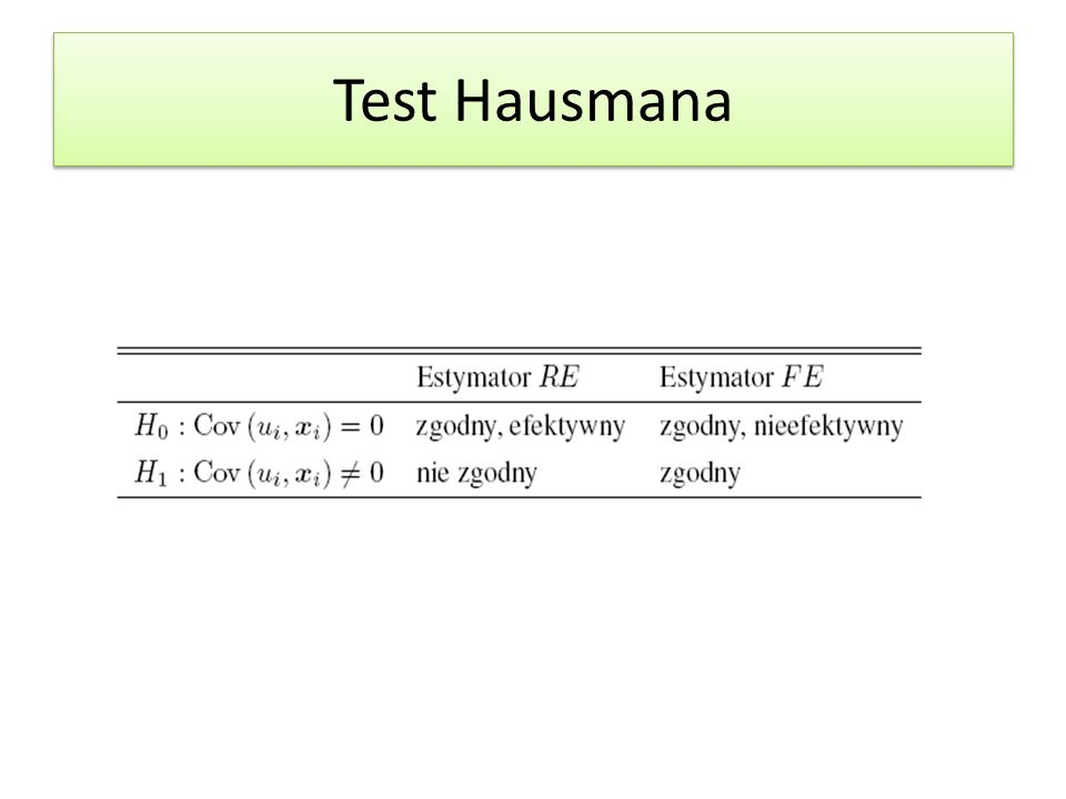 Test Hausmana