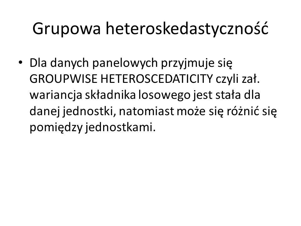 Grupowa heteroskedastyczność