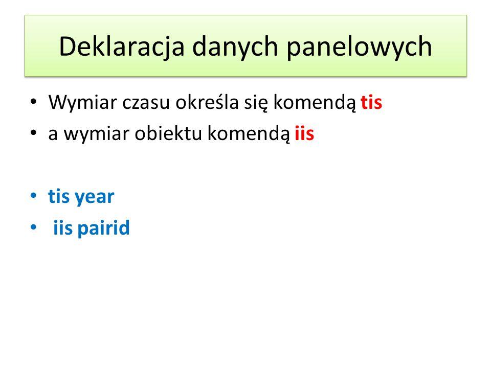 Deklaracja danych panelowych