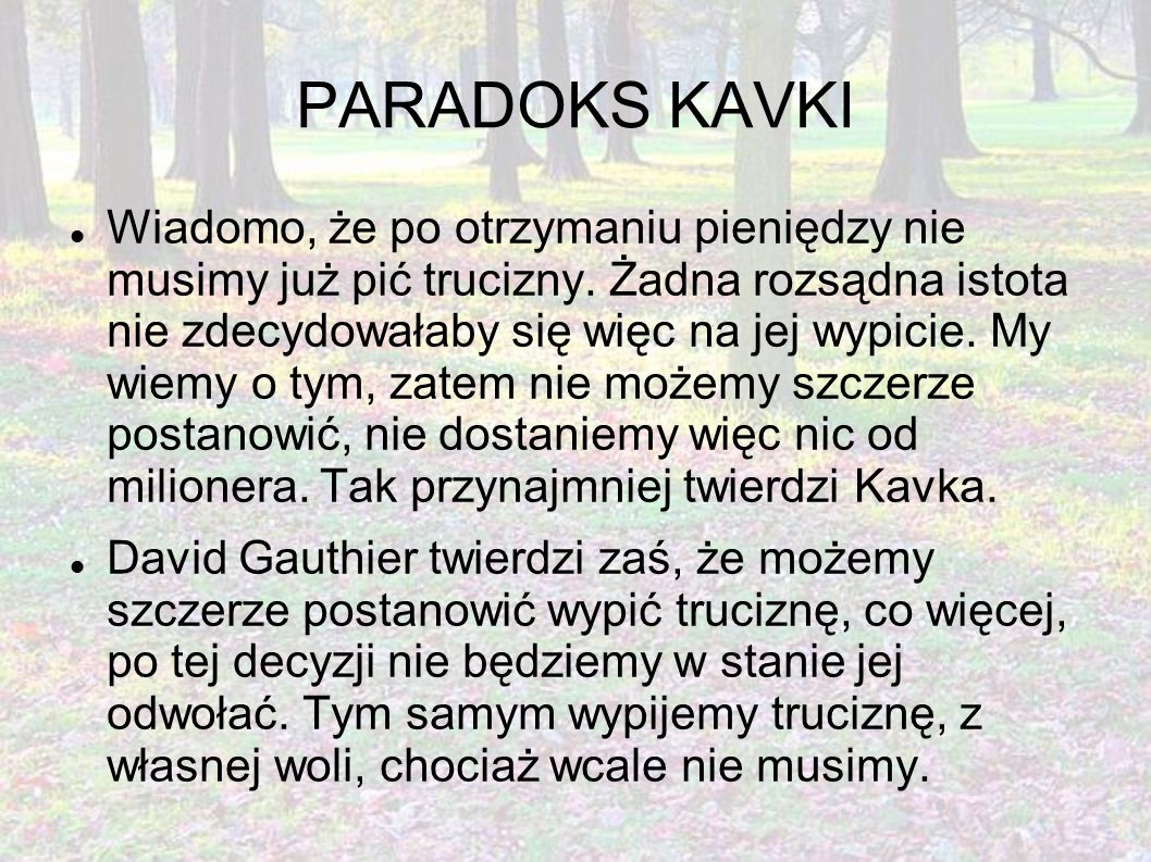 PARADOKS KAVKI