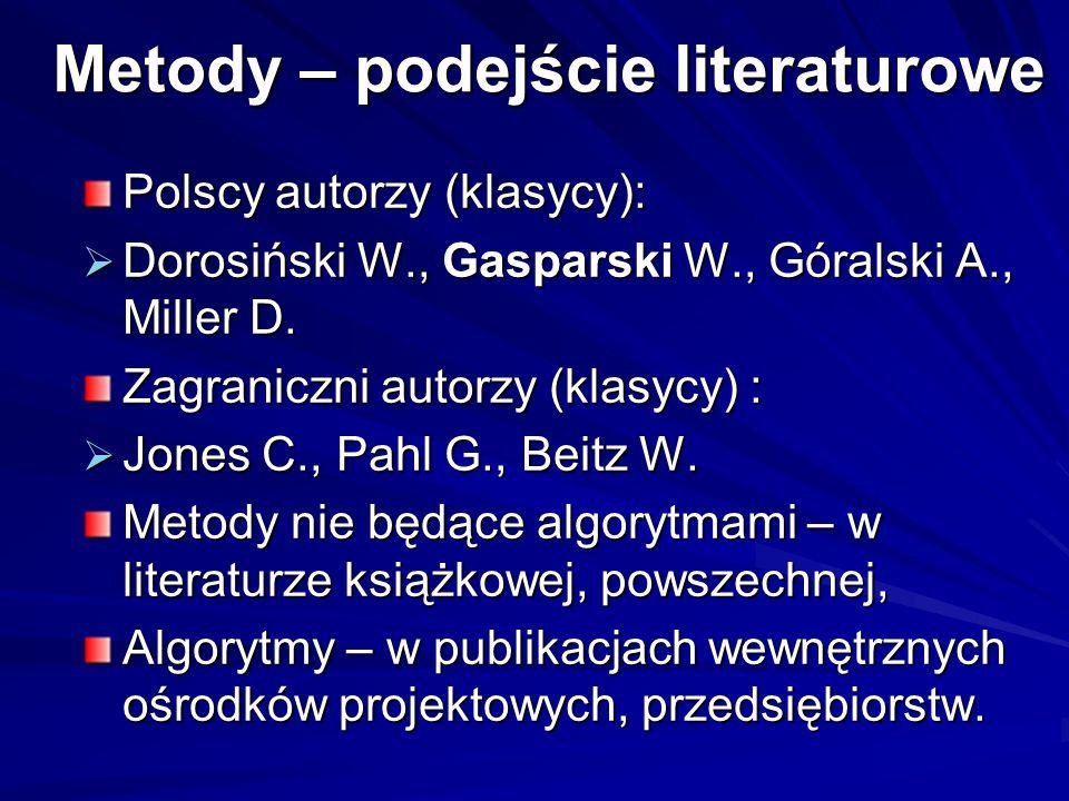 Metody – podejście literaturowe