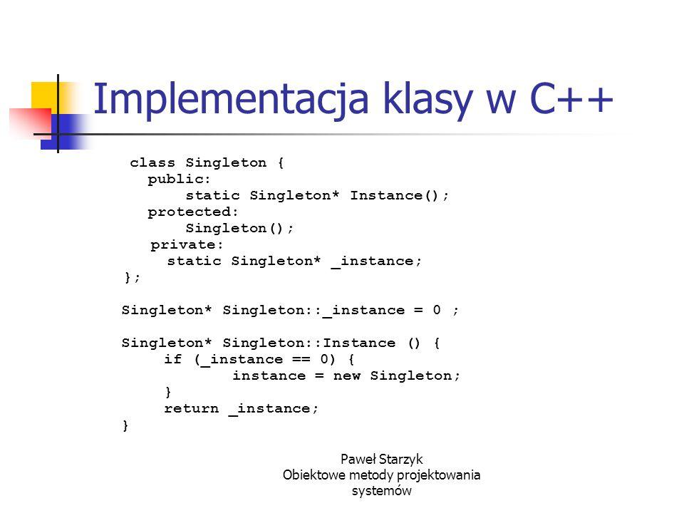 Implementacja klasy w C++