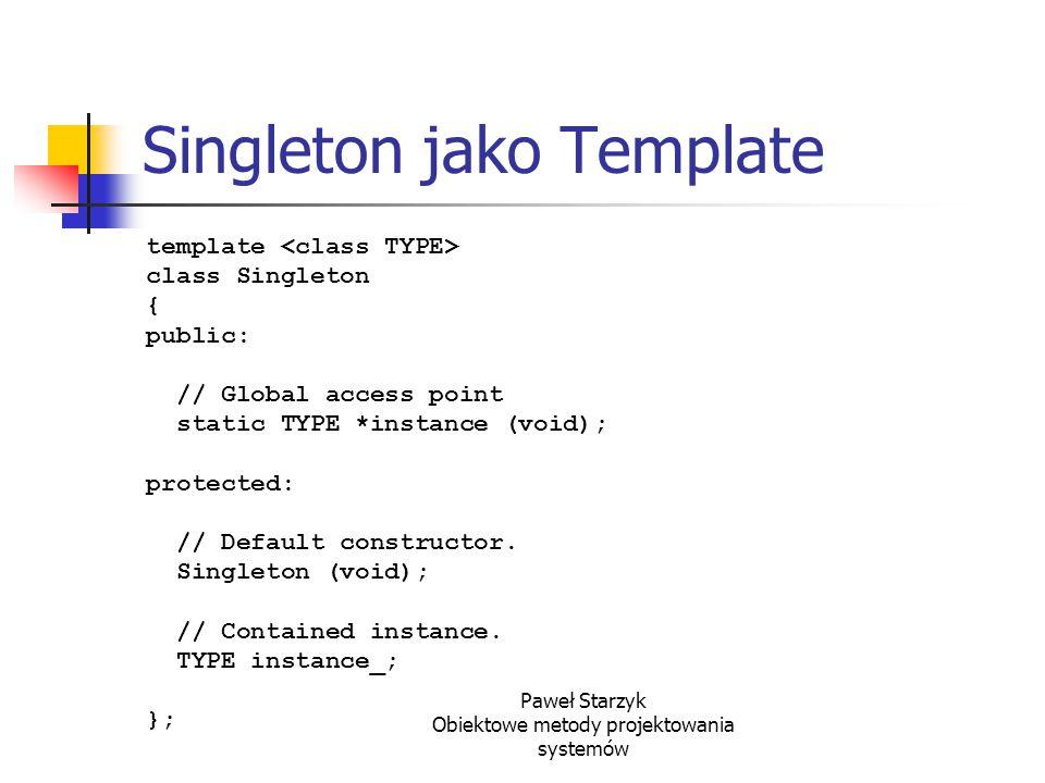 Singleton jako Template