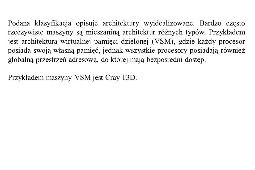 Podana klasyfikacja opisuje architektury wyidealizowane