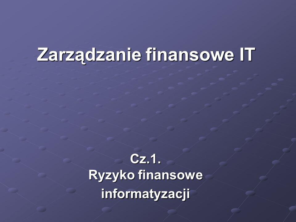 Cz.1. Ryzyko finansowe informatyzacji