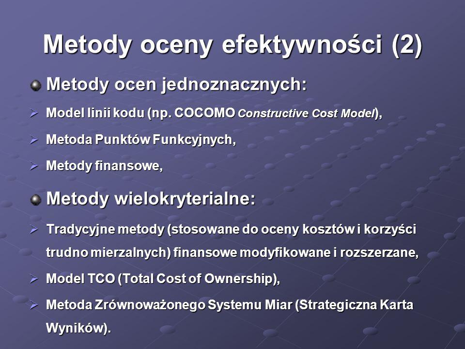 Metody oceny efektywności (2)