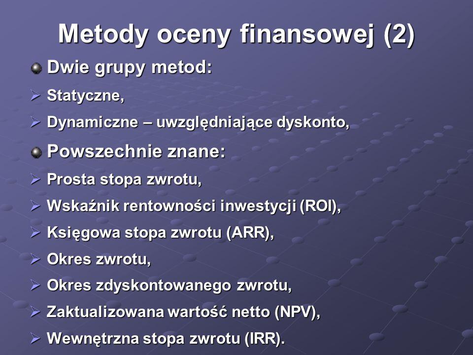 Metody oceny finansowej (2)