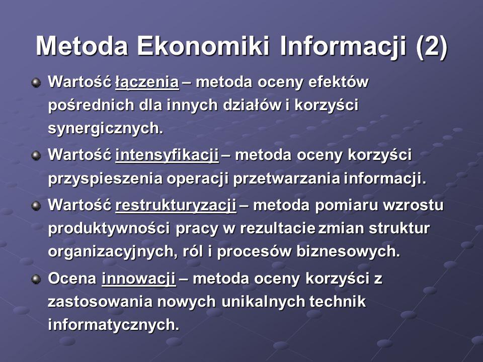 Metoda Ekonomiki Informacji (2)