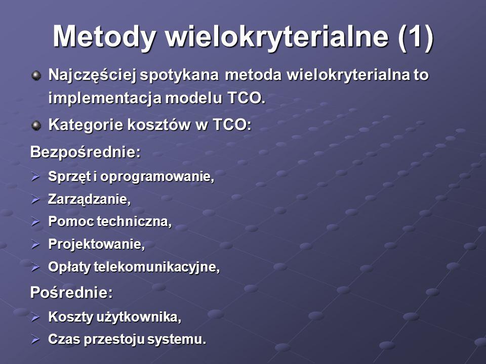 Metody wielokryterialne (1)
