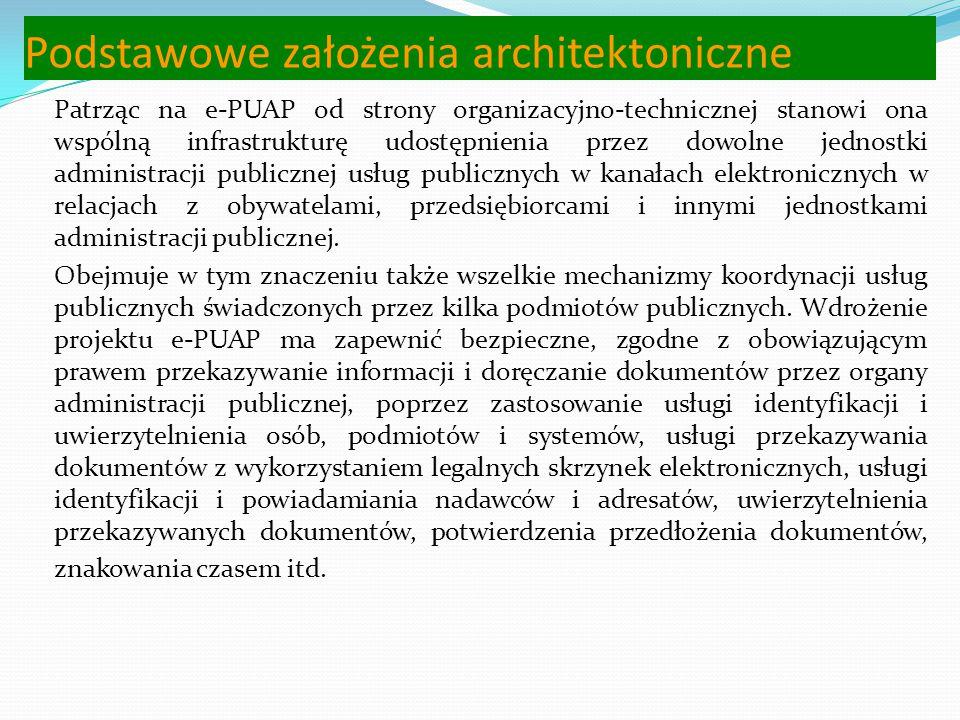 Podstawowe założenia architektoniczne