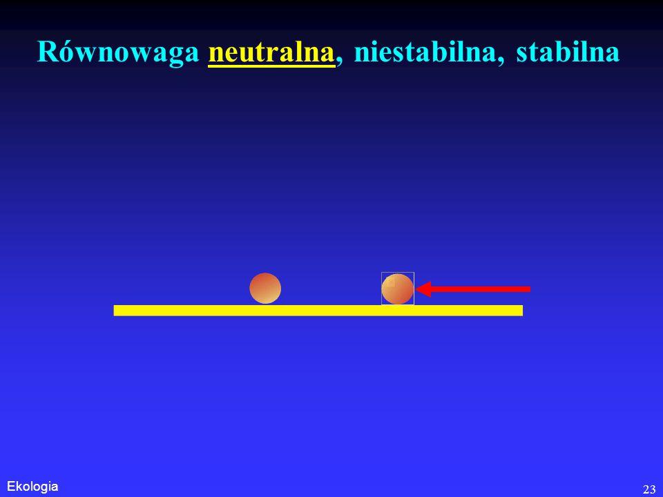 Równowaga neutralna, niestabilna, stabilna