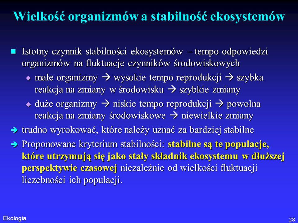 Wielkość organizmów a stabilność ekosystemów