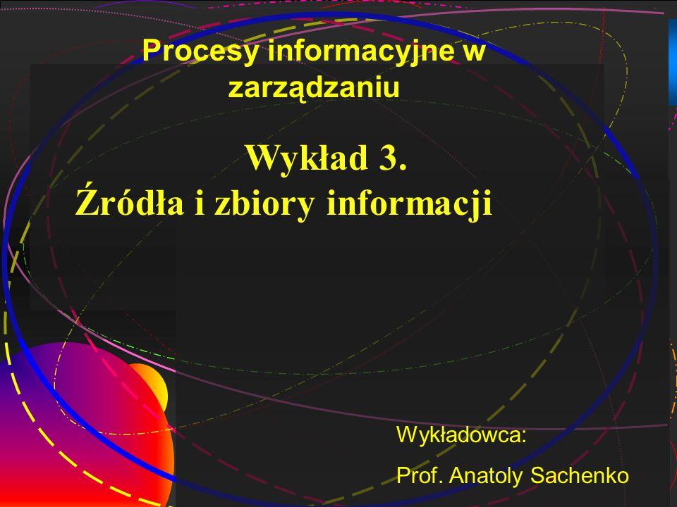Procesy informacyjne w zarządzaniu