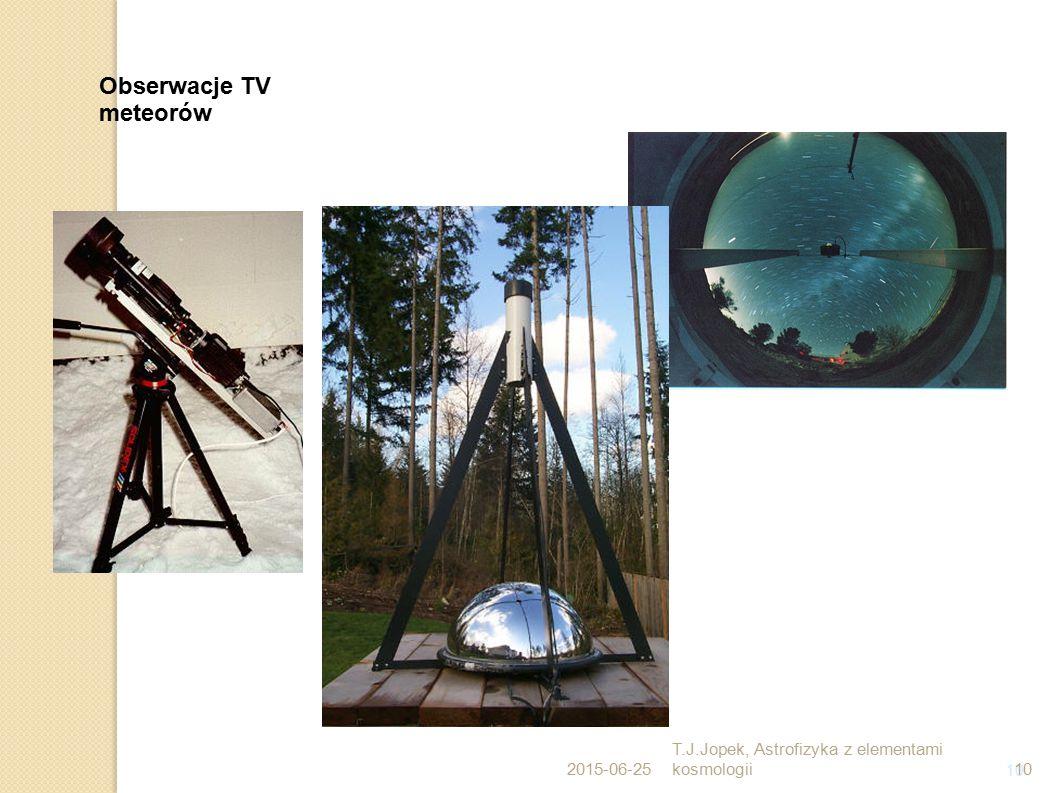 Obserwacje TV meteorów T.J.Jopek, Astrofizyka z elementami kosmologii
