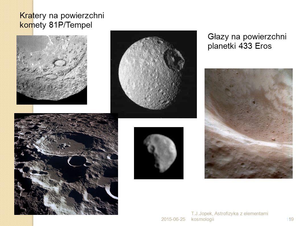 Kratery na powierzchni komety 81P/Tempel