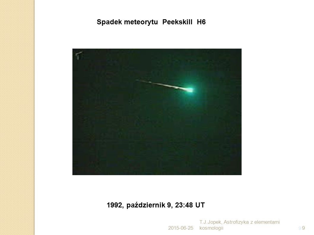 Spadek meteorytu Peekskill H6