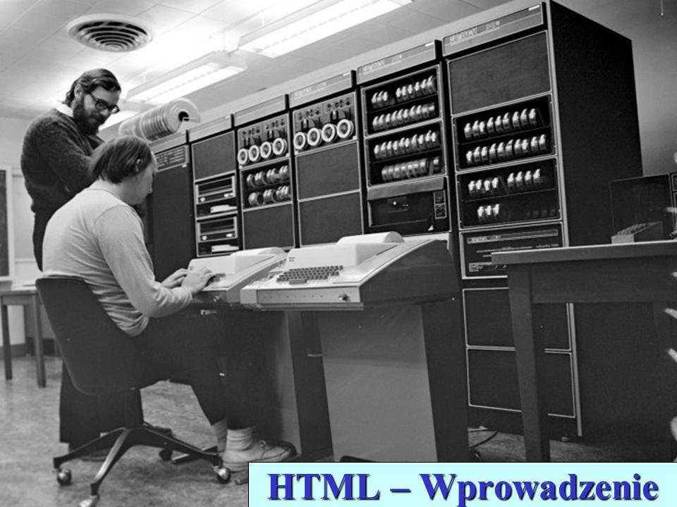 HTML – Wprowadzenie