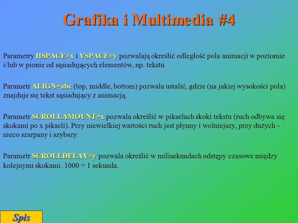 Grafika i Multimedia #4 Spis