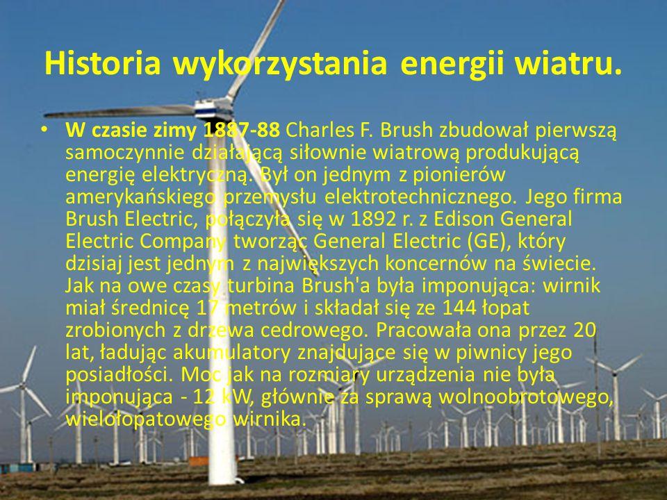 Historia wykorzystania energii wiatru.