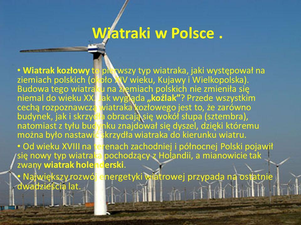 Wiatraki w Polsce .