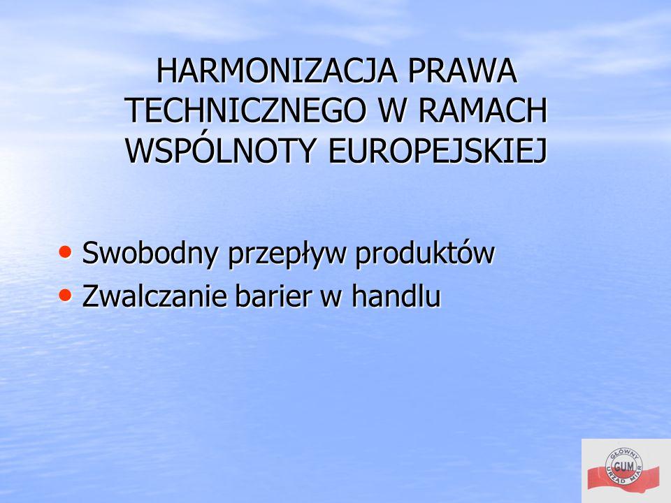 HARMONIZACJA PRAWA TECHNICZNEGO W RAMACH WSPÓLNOTY EUROPEJSKIEJ