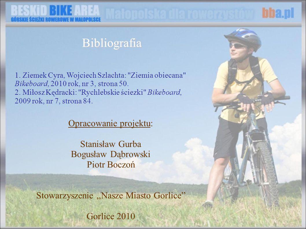 Bibliografia Opracowanie projektu: Stanisław Gurba Bogusław Dąbrowski