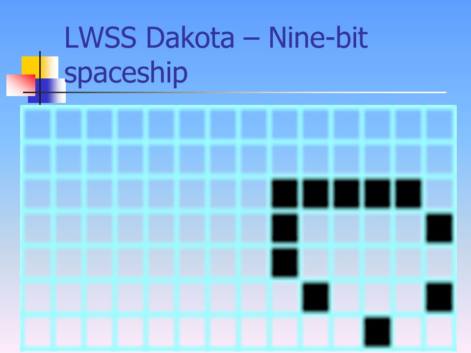 LWSS Dakota – Nine-bit spaceship